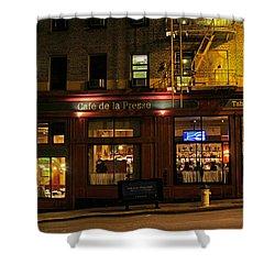 Cafe De La Presse On Bush St Shower Curtain