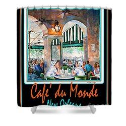 Cafe Du Monde Shower Curtain by Dianne Parks