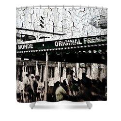 Cafe Du Monde Shower Curtain by Scott Pellegrin