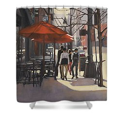 Cafe Lodo Shower Curtain
