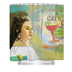 Cafe Ole Girl Shower Curtain
