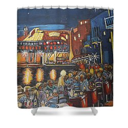 Cafe Scene At Night Shower Curtain