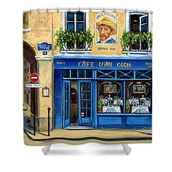 Cafe Van Gogh II Shower Curtain by Marilyn Dunlap