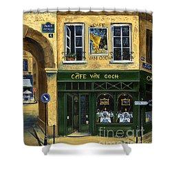 Cafe Van Gogh Paris Shower Curtain by Marilyn Dunlap