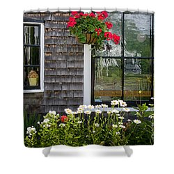 Cafe Windows Shower Curtain by Susan Cole Kelly