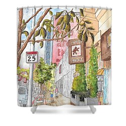 Cafee Primo In Sunset Plaza, West Hollywood, California Shower Curtain