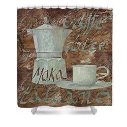 Caffe Espresso Shower Curtain by Guido Borelli