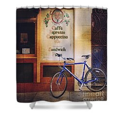 Caffe Expresso Bicycle Shower Curtain