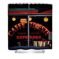 Caffe Trieste Espresso Window Shower Curtain