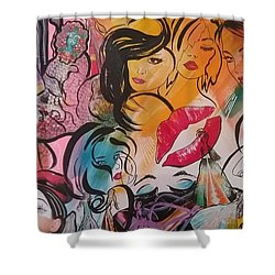 Caftans And Women Collage  Shower Curtain