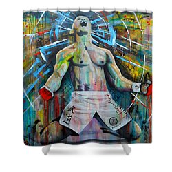 Cage Fighter Shower Curtain