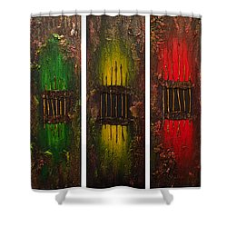 Shower Curtain featuring the painting Caged 2 by Patricia Lintner
