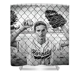 Shower Curtain featuring the photograph Caged Competitor by Bill Pevlor
