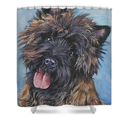 Cairn Terrier Brindle Shower Curtain by Lee Ann Shepard