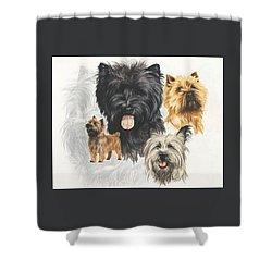 Cairn Terrier Revamp Shower Curtain