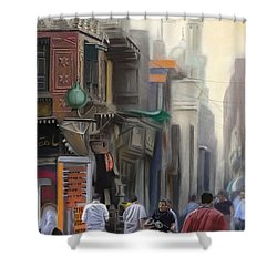 Cairo Street Market Shower Curtain