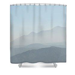 Cajon Pass Haze Shower Curtain