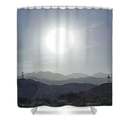 Cajon Pass Sunset Shower Curtain