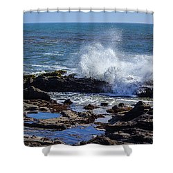 Wave Crashing On California Coast Shower Curtain