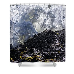 California Coast Wave Crash 5 Shower Curtain