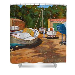 Cala Figuera Boatyard - I Shower Curtain