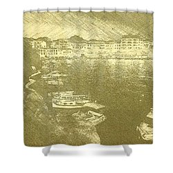 Cala Fonts At Night Shower Curtain