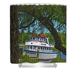 Calabash Deep Sea Fishing Boat Shower Curtain