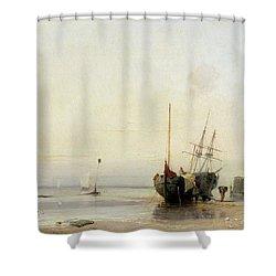 Calais Pier Shower Curtain by Richard Parkes Bonington