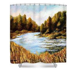 Calapooia River Shower Curtain by Marti Green