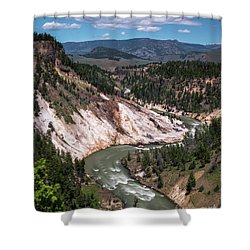 Calcite Springs Overlook  Shower Curtain
