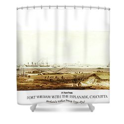 Calcutta In 18th Century Shower Curtain by Asok Mukhopadhyay