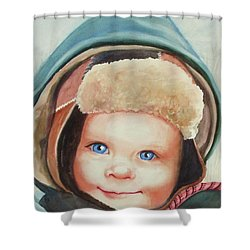 Caleb Shower Curtain by Marilyn Jacobson