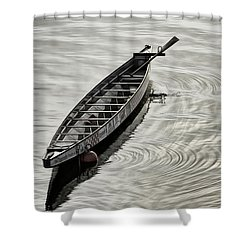 Calgary Dragon Boat Shower Curtain by Brad Allen Fine Art