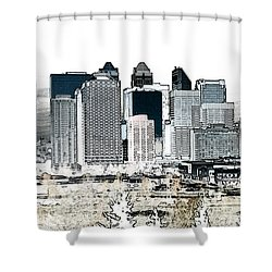 Calgary Skyline 1 Shower Curtain by Stuart Turnbull