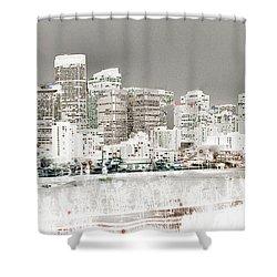 Calgary Skyline 3 Shower Curtain by Stuart Turnbull