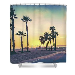 Shower Curtain featuring the photograph Cali Sunset by Az Jackson