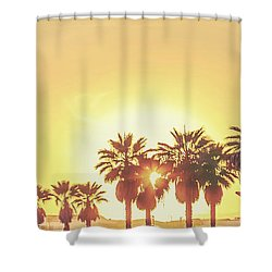 Cali Vibes Shower Curtain