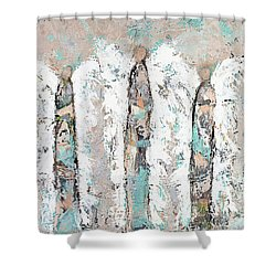 Calico Angel Trio Shower Curtain