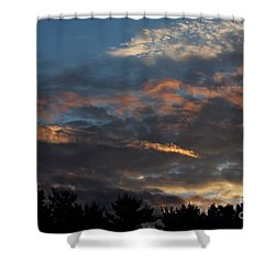 Shower Curtain featuring the photograph Calico Clouds by Kenny Glotfelty