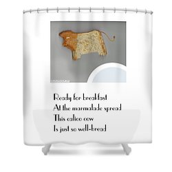 Calico Cow Shower Curtain