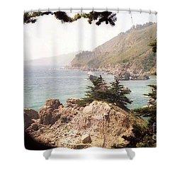 Calif Coast Drive Ocean View Shower Curtain