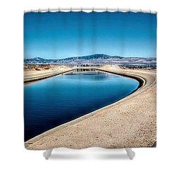 California Aqueduct At Fairmont Shower Curtain