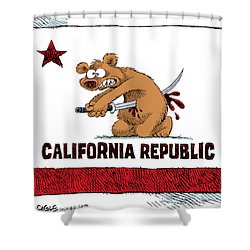 California Budget Harakiri Shower Curtain