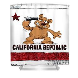 California Budget Suicide Shower Curtain