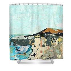 California Coast Collage Shower Curtain by Claudia Schoen
