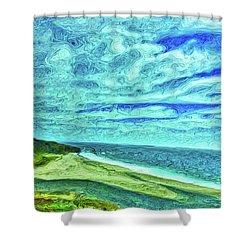 California Coast Shower Curtain by Joan Reese
