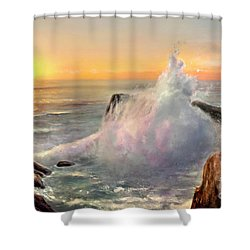 California Coast Shower Curtain by Michael Rock