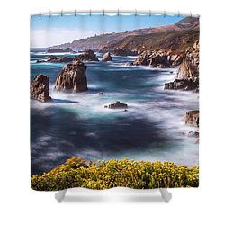 California Coastline  Shower Curtain