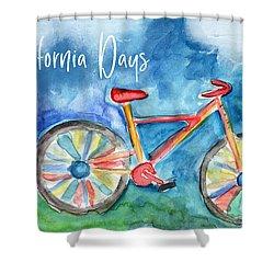 California Days - Art By Linda Woods Shower Curtain