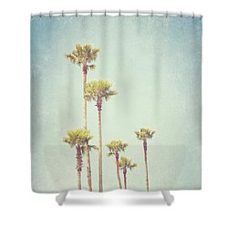California Dreaming - Palm Tree Print Shower Curtain